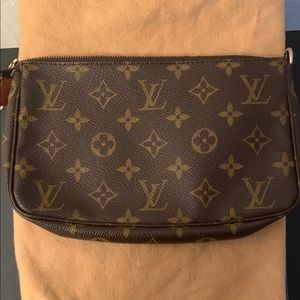 Louis Vuitton Monogram Mini Pochette (no strap)